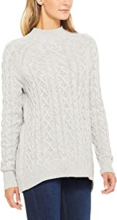 French Connection Women's Cable Roll Neck Knit, Grey (