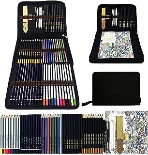 Professionale Matite Colorate Kit per Schizzo e Disegno Artistico,70 Colori Unici per Disegnare e Libri da Colorare Adult...