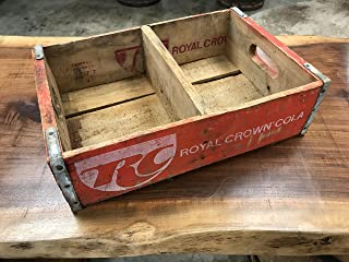 Vintage RC Cola Crate, Royal Crown Soda Pop Carrier Crate Circa 19702