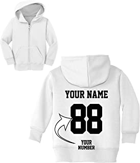 53dab7f33 Custom Zip Up Toddler Hoodies - Design Your OWN Jersey - Hooded Team  Sweaters
