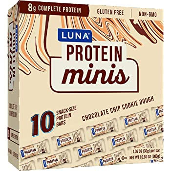 Luna Protein Luna Protein - Chocolate Chip Cookie Dough - (1.06 Ounce Snack Bar, 10 Count), 10 Count