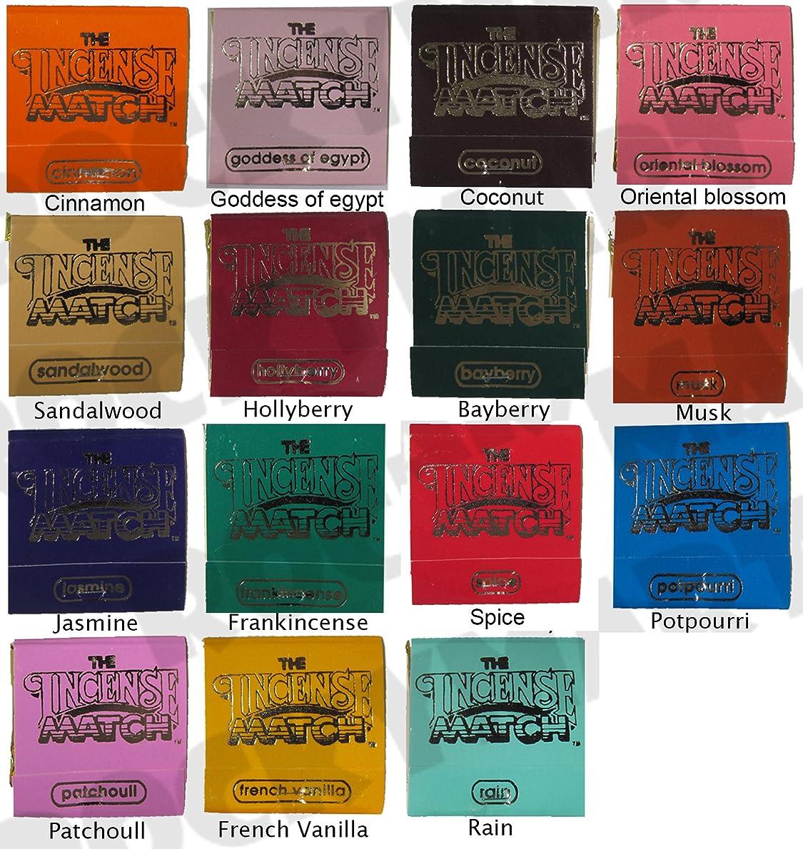 踊り子読みやすさ晩餐Set of 15 Books of Incense Matches - One of each of the 15 Fragrances Available