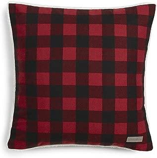 Eddie Bauer Red Cabin Plaid Flannel 20-inch Decorative Pillow, 20x20,