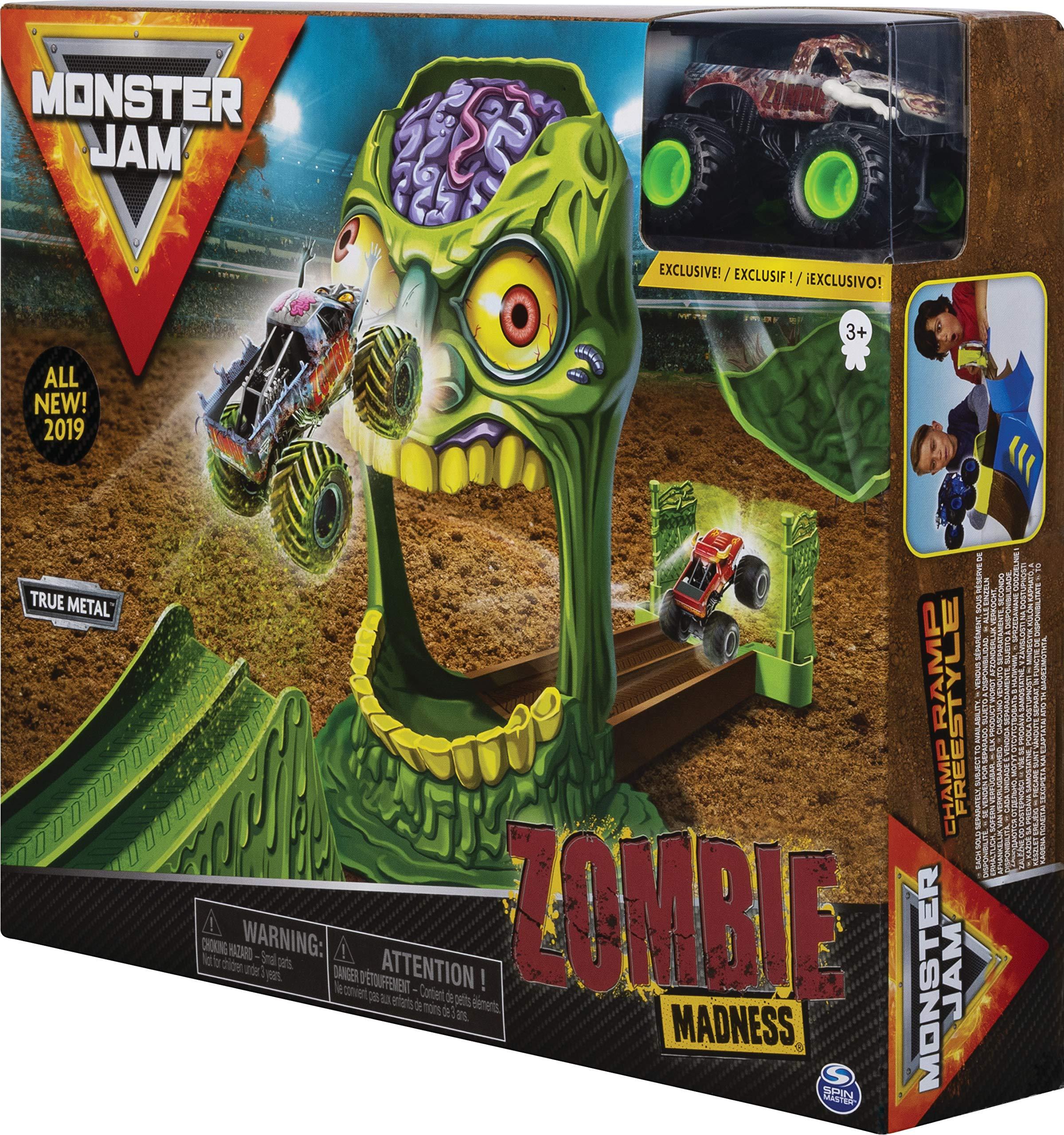 Monster Jam- Monster Jam-6053298-Original Spielset mit exklusivem Truck, Maßstab Madness-Camión Monstruo Zombi (Escala 1:64), Multicolor (Spin Master 20103383-6053298) , color/modelo surtido: Amazon.es: Juguetes y juegos