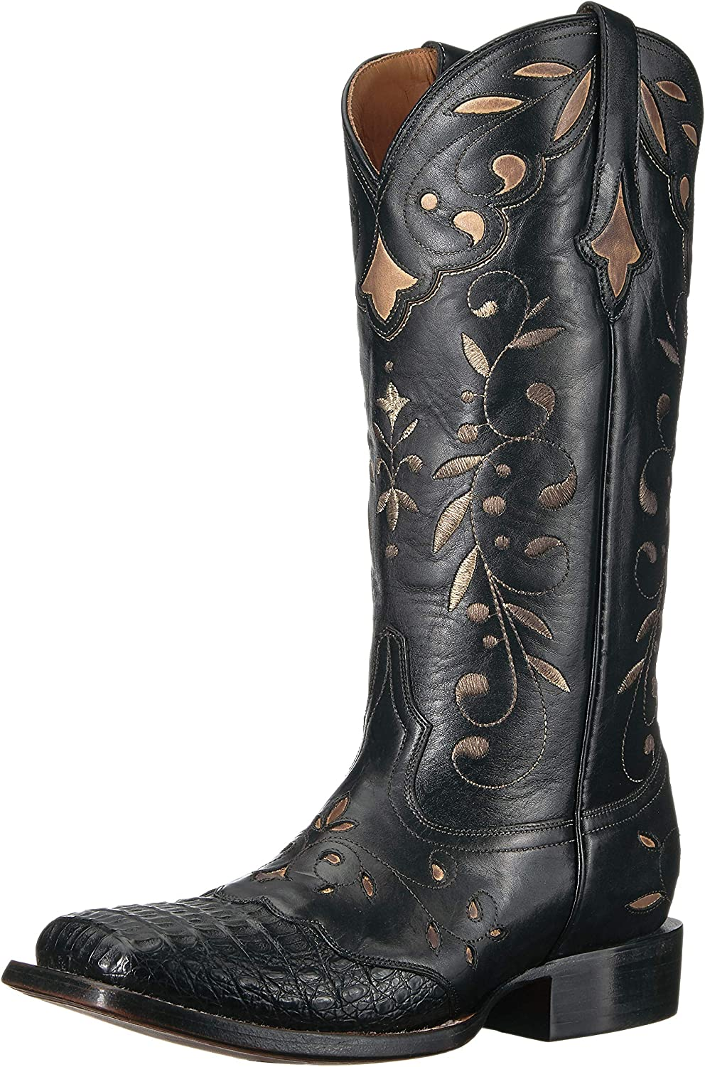 Lucchese Women's Sherilyn Crocodile Square Toe Cowboy Boots Western