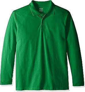 Boys' Adult Unisex Long Sleeve Pique Polo