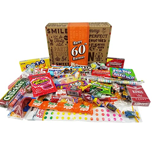 60TH BIRTHDAY RETRO CANDY GIFT BOX