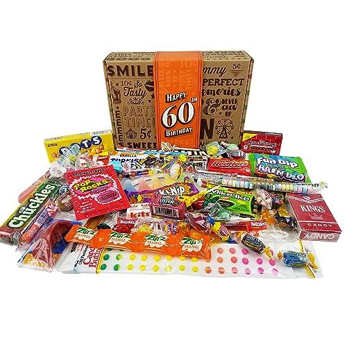 60TH BIRTHDAY RETRO CANDY GIFT BOX
