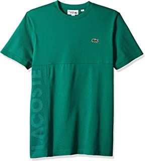 Lacoste Men's Sport Short Sleeve Super Light Knit Mesh Logo T