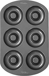 """Wilton 6-Cavity Doughnut Baking Pan, Makes Individual Full-Sized 3 3/4"""" Donuts or Baked Treats, Non-Stick and Dishwasher S..."""
