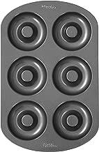 Wilton 6-Cavity Doughnut Baking Pan, Makes Individual Full-Sized 3 3/4
