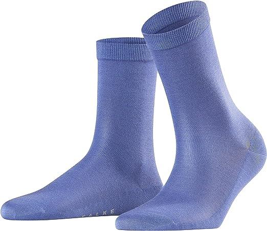 Falke Socken Silk Baumwolle Seide Damen Schwarz Grau Viele Weitere Farben Verstärkte Damensocken Ohne Muster Atmungsaktiv Dünn Und Einfarbig Im Multipack 1 Paar Bekleidung