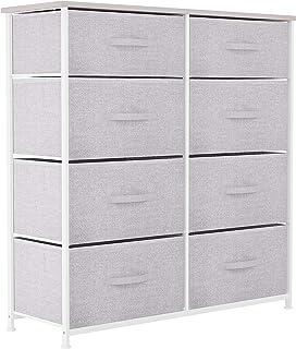 YITAHOME Commode 8 tiroirs, Commode Chambre Adulte en Tissu, Meuble de Rangement vêtements, Cadre Stable en Métal, Poignée...