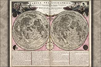 16x24 Poster; Lunar Map Of The Moon 1708 In Latin