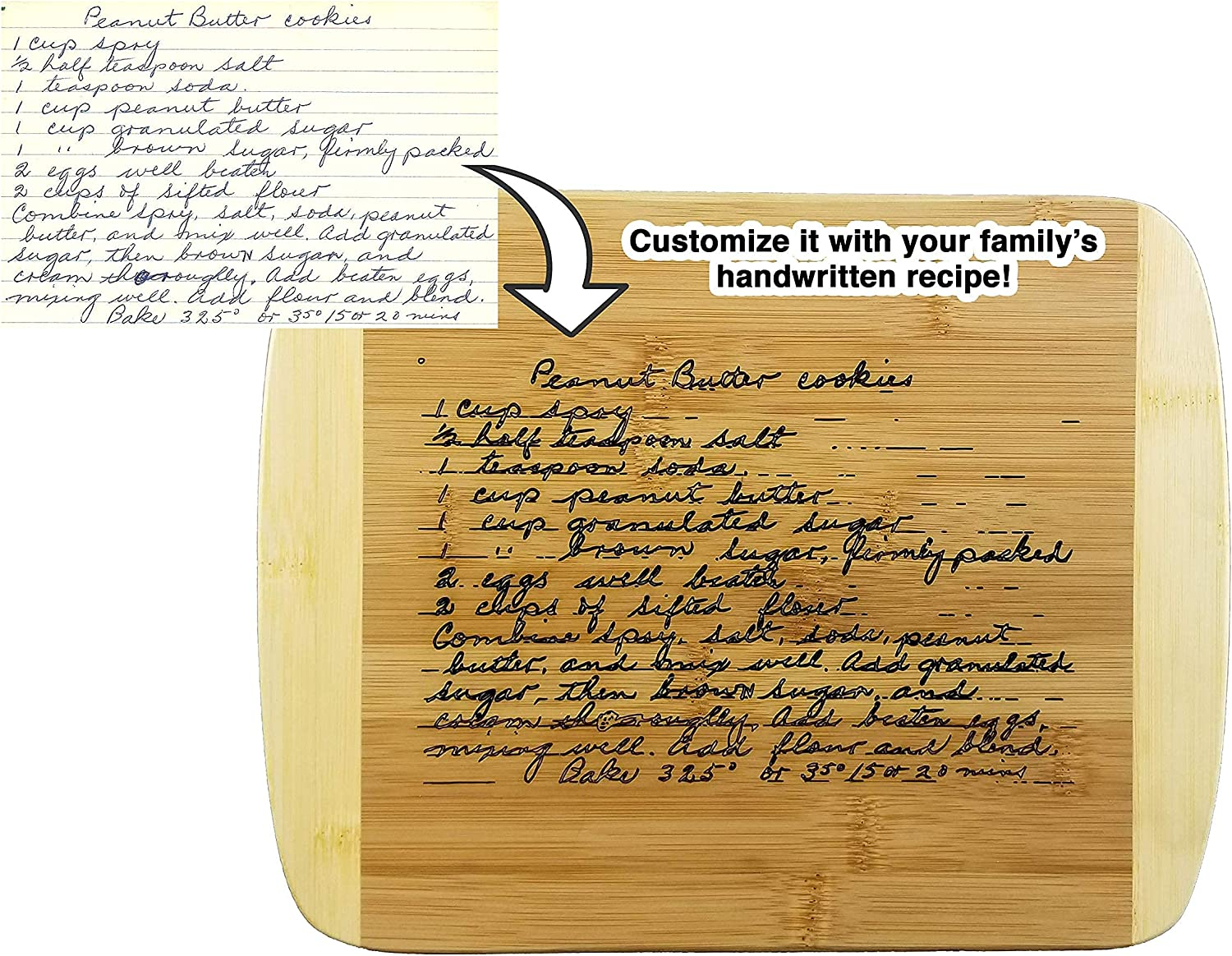 National products Wedding Collectibles Wooden Recipe Max 68% OFF Board Cutting Custom Thick