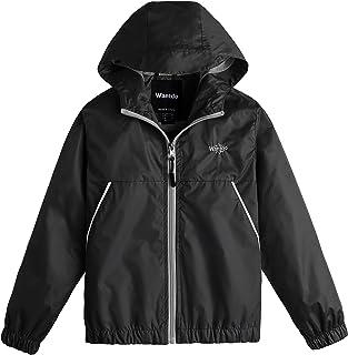 Wantdo Boy's Watertight Jacket Lightweight Windproof Hooded Rain Coat