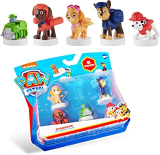 PAW Patrol Blister 5-Pack Figures with Stampers – Mess-Free, Paw Patrol Birthday Cake Toopers Decorations, Party Favors – ...