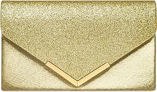 Caspar TA430 Damen XL Metallic Clutch Tasche Abendtasche