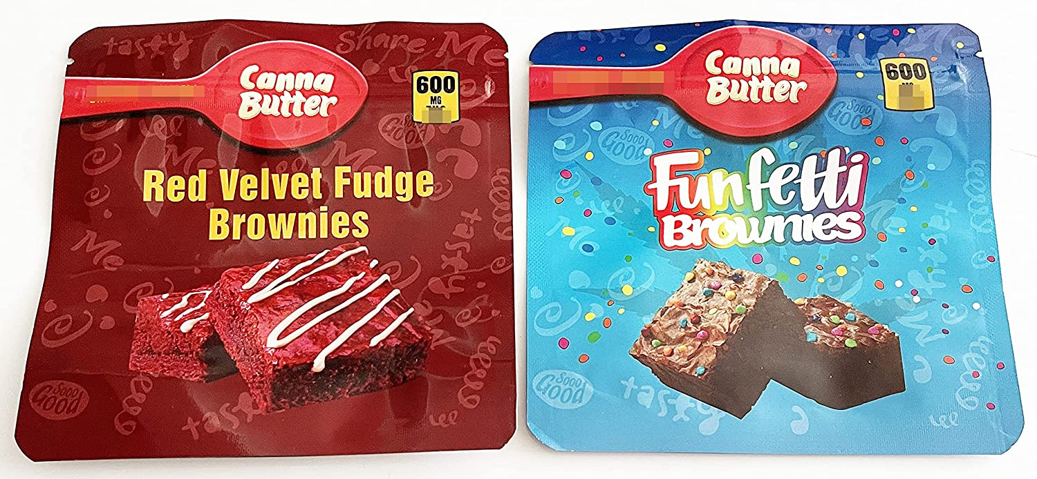 20 PCS Packaging Sale price Bags Canna Velvet Butter Online limited product Brownie Funfetti Fudge