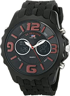 Sport Men's US9117 Black Silicone Analog Digital Watch