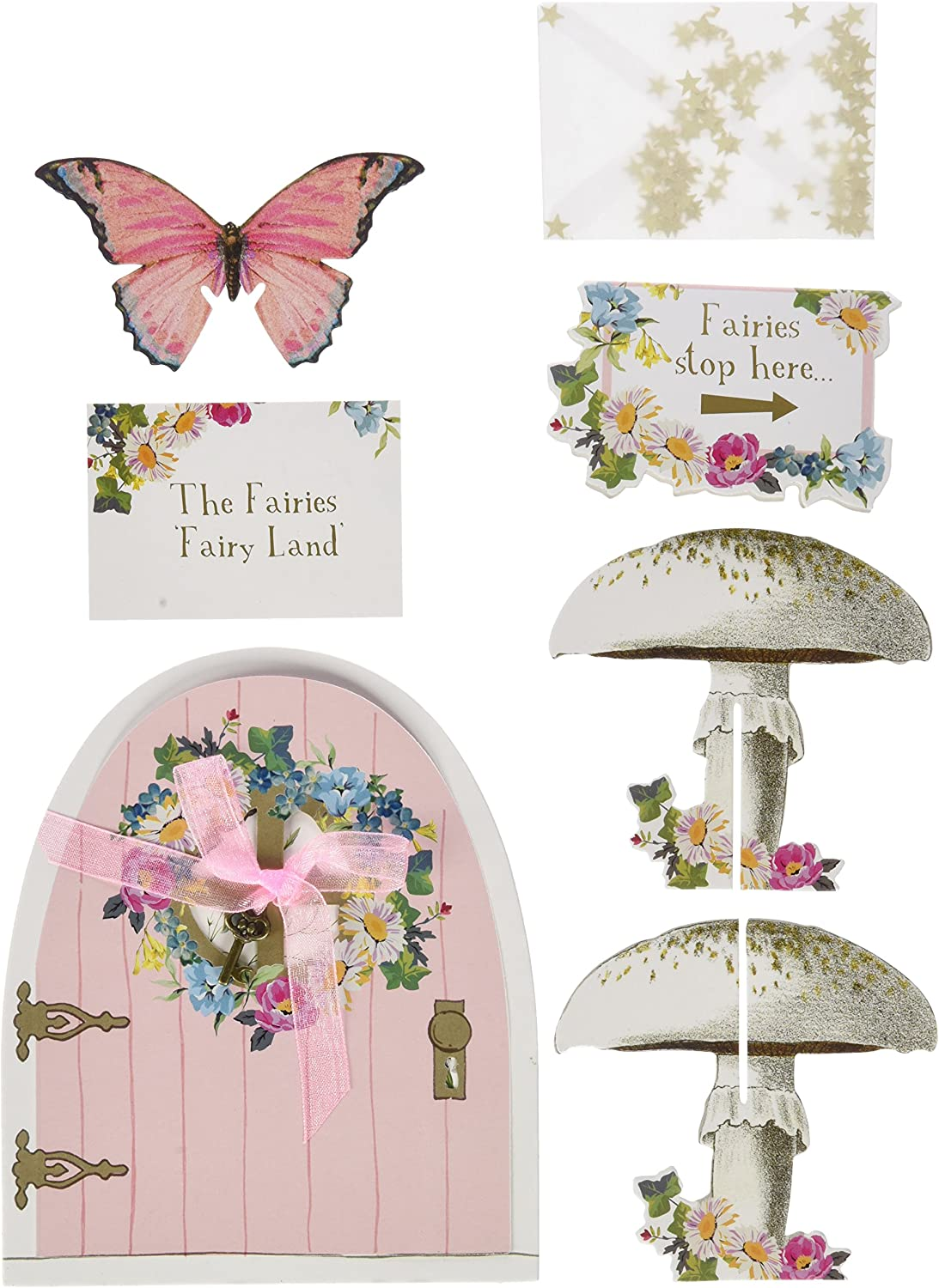 Multicolore Talking Tables Tsfairy Truly Fairy Butterfly Bunting