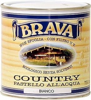Brava coub7Country Pastel para madera al agua blanco 750ml