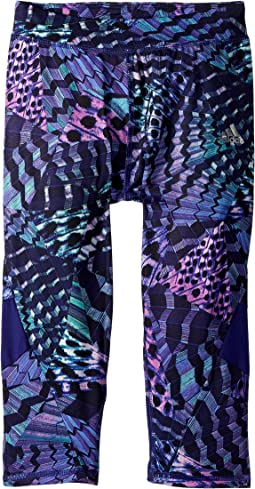 adidas Kids Practice Printed Capri Tights (Big Kids)
