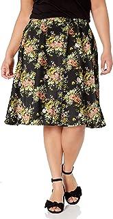 Star Vixen Women's Plus-Size Knee Length Full Skater Skirt
