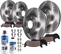 Detroit Axle - All (4) Front & Rear Disc Brake Rotors w/Ceramic Pads w/Hardware & Brake Cleaner & Fluid for 2005 2006 2007 Ford Focus - NOT SVT Models