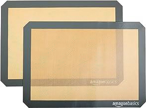 AmazonBasics - Tapete de silicona para hornear, juego de 2 unidades