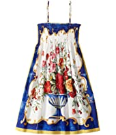 Dolce & Gabbana Kids - Caltagirone Vase Print Dress (Big Kids)