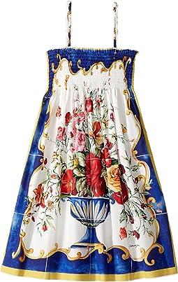 Dolce & Gabbana Kids - Caltagirone Vase Print Dress (Big Kids)