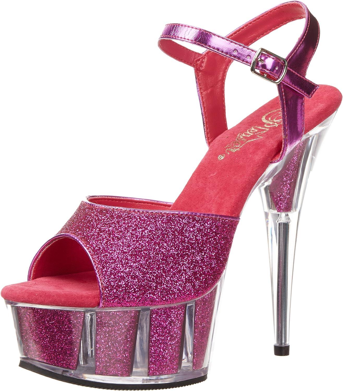 Pleaser Women's Delight-609-5G Ankle-Strap Sandal