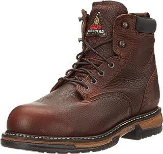 """Rocky FQ0006696 6"""" BrnSoggy Steel Toe RWP مقاس متوسط 8 أحذية عمل"""