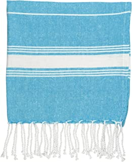 Nicola Spring Children's Turkish Cotton Towel | Beach Bath Swimming | Hammam Peshtemal Fouta Style - Light Blue