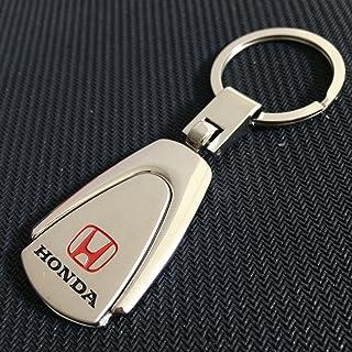 Nancy90 Honda Metal Keychain Key Ring Silver Red Black