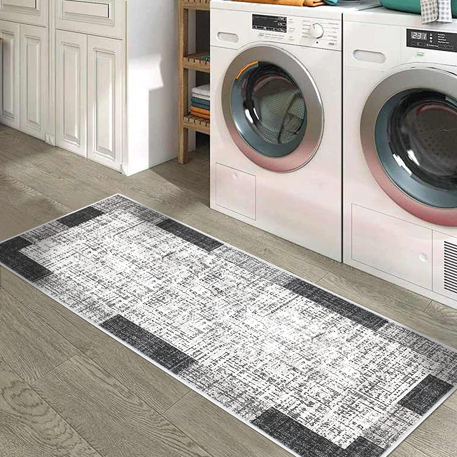 SussexHome Non Skid Washable Laundry Room Rug 59 - Clearance Large special price !! SALE Limited time Runner 20 x I