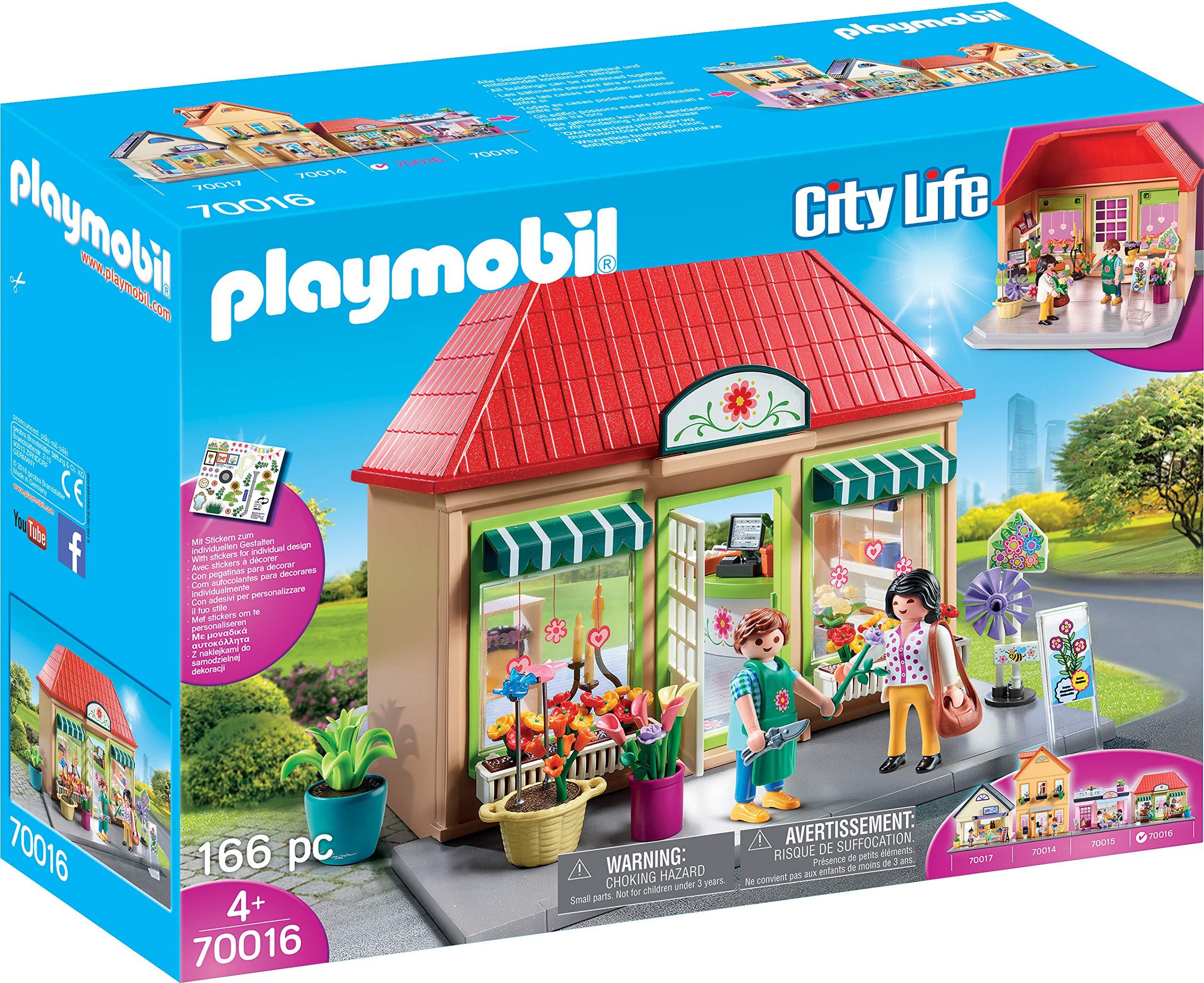 PLAYMOBIL City Life Mi Floristería, A partir de 4 años (70016): Amazon.es: Juguetes y juegos