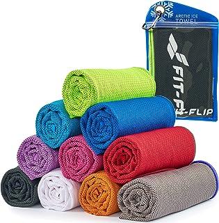 Cooling towel voor sport & fitness - microvezel handdoek/koeldoek als verkoelende handdoek voor het lopen, trekking, reize...