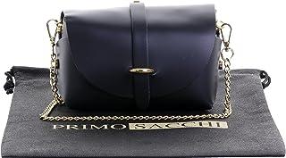 8294543498 Primo Sacchi Sac de soirée bandoulière en cuir italien Mini petit  épaulement Micro avec bracelet chaîne