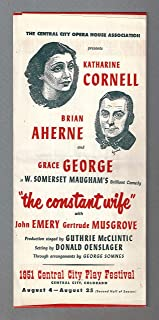 """Katharine Cornell""""CONSTANT WIFE"""" W. Somerset Maugham 1951 Central City, Colorado Mail Order Form"""