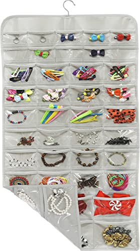 2021 SimpleHouseware sale Hanging Jewelry Organizer outlet sale 80 Pocket, Grey outlet online sale