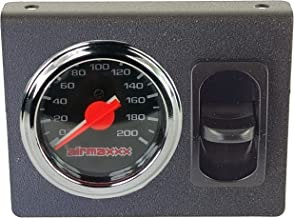 airmaxxx Dual Needle Air Gauge Display Panel & 1 Paddle Switch