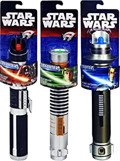 Star Wars BladeBuilders Lightsabers Darth Vader, Luke Skywalker & Kanan Jarrus Extendable Lightsabers Battle Set Bundle - 3 Pack