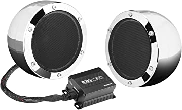 BOSS Audio Systems MC720B Bluetooth, Weatherproof Speaker And Amplifier Sound System, 2 4 Inch Speakers, Bluetooth Amplifier, Inline Volume Control, Ideal For Motorcycles ATV and 12 Volt Applications