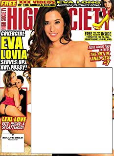 Adult Magazine Eva Lovia High Society #265 Lexi Love Gina Valentina +The Girls of Platinum #23 XXX DVD Starring Isabella Dior