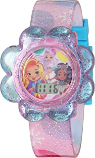 ساعة نيكلوديون كوارتز بحزام بلاستيكي، لون وردي، 15 (SND40001SETAZ)