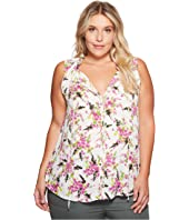 B Collection by Bobeau - Plus Size Dahlia Woven Tank Top