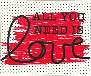 All You Need is Love Distressed Red 10 x 8 MDF Decorative Wall and Tabletop Frame