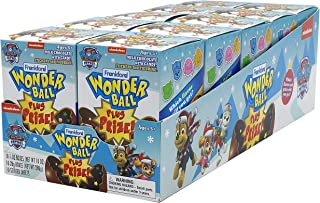 Frankford Candy Company Wonder Ball with Prize Paw Patrol, Milk Chocolate, 4.2 Oz (Pack Of 10)